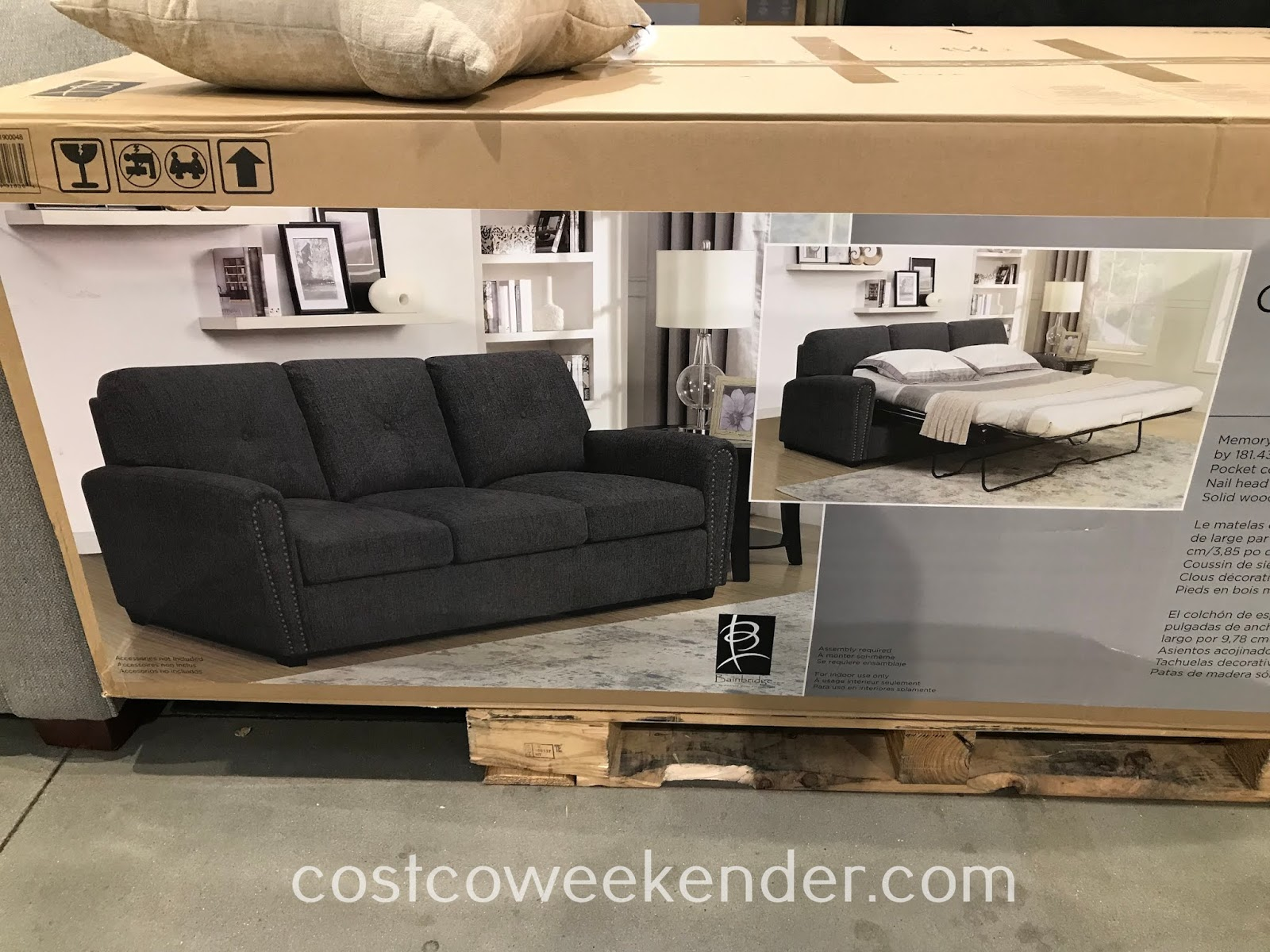 Costco 1900048 - Bainbridge Fabric Sleeper Sofa is as sofa bed your houseguests will love
