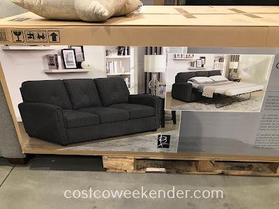 Costco 1900048 - Bainbridge Fabric Sleeper Sofa is as sofa bed your houseguests will love