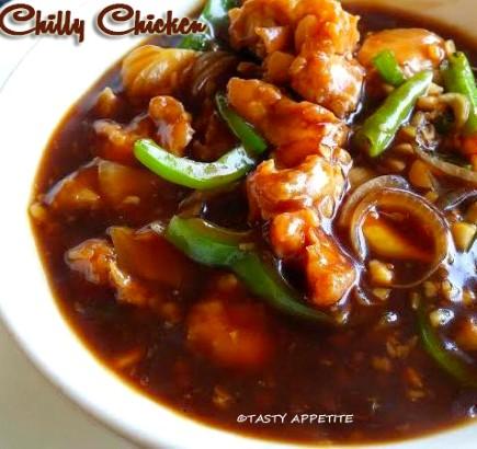 Spicy Chilly Chicken Gravy Recipe Restaurant Style Chilly Chicken