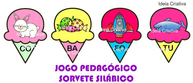 Jogo Pedagógico Sorvete Silábico