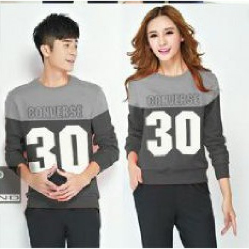 Jual Online Sweater Converse Abu Jakarta Bahan Babytery Terbaru