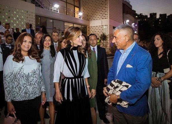 Design Moves Life Moves Design. Queen Rania launched Amman Design Week (ADW2017) at Ras El Ain Hangar
