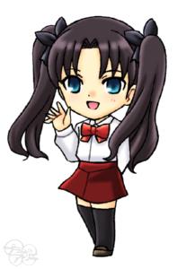 プラムのアトリエ Fate Zero 幼少期 遠坂 凛 私服ver 夏服 ミニキャラ ちびキャラ イラスト