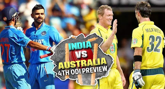 India Vs Australia Live, 4th ODI
