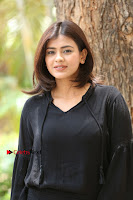 Actress Hebah Patel Stills in Black Mini Dress at Angel Movie Teaser Launch  0114.JPG