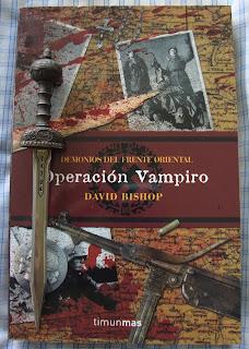 Portada del libro Operación Vampiro, de David Bishop