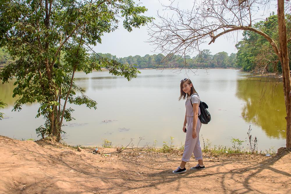 Angkor wat temple moat cambodia siem reap