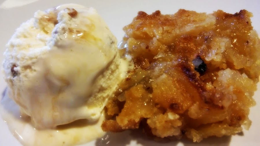 Tarta Apple Crumble con helado