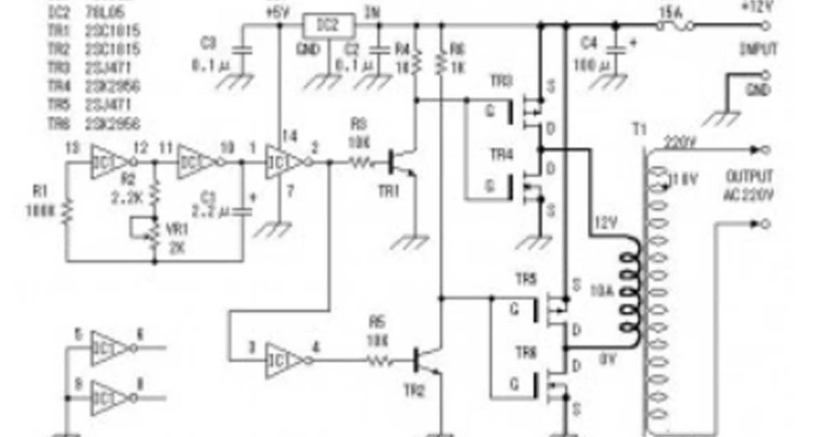 Fahmi Kamal F: Rangkaian Inverter 12V DC Ke 220V AC (MOSFET)