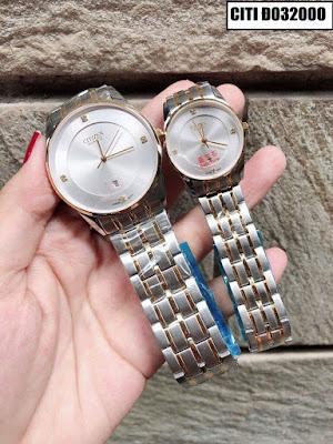 Đồng hồ cặp đôi đẹp nhất CITI Đ032000
