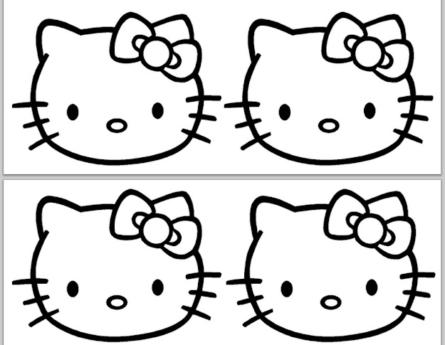 Hello Kitty Coloring Pages Costume Halloween Cake Template