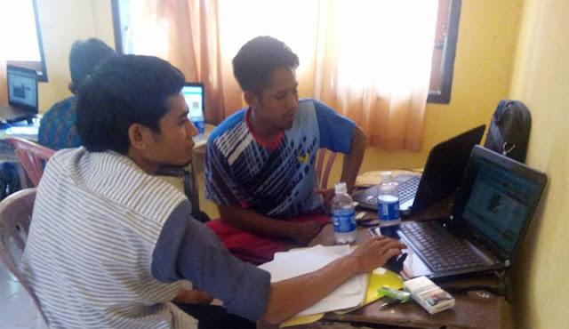 Menulis di Website FOPPSI Kecamatn Wanasaba