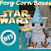 DIY Porg Party PopCorn Boxes