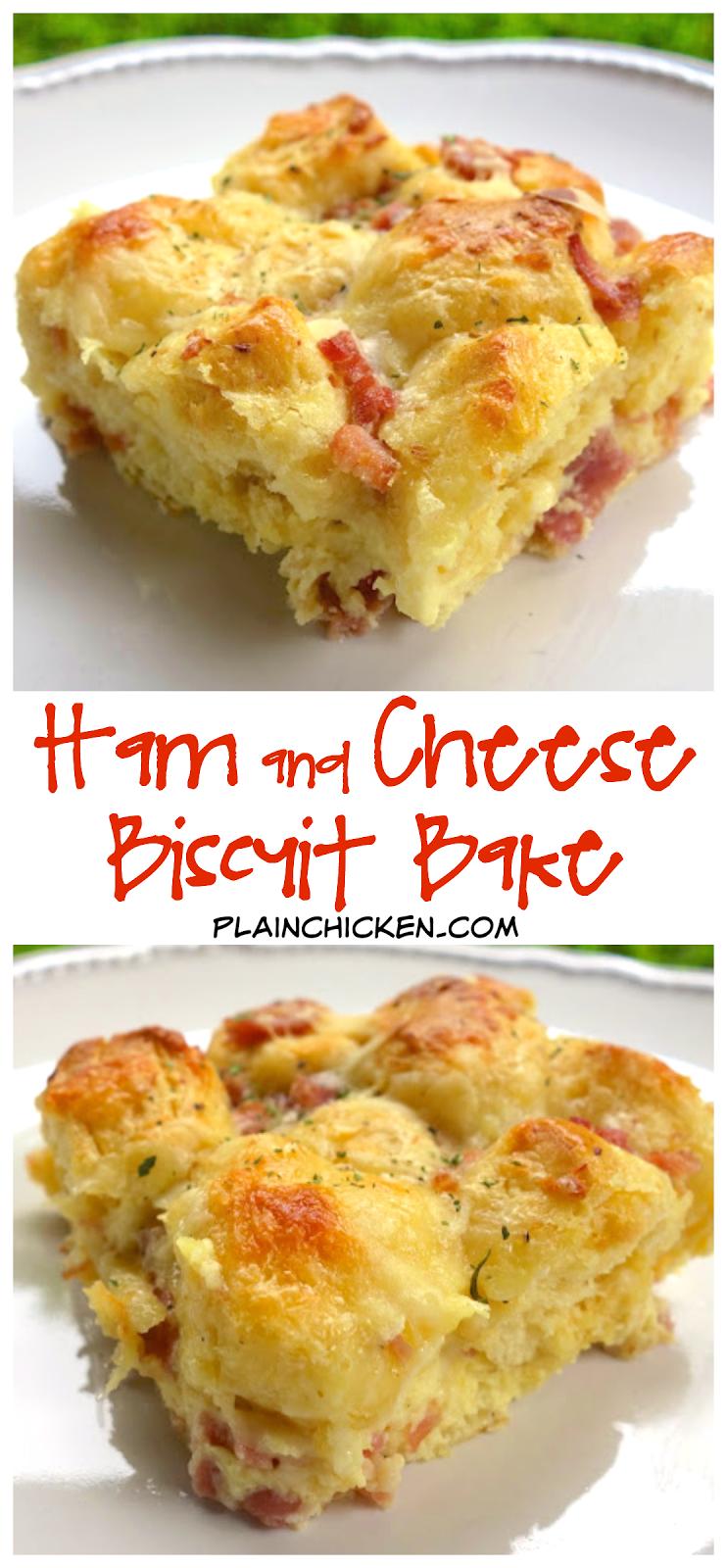 Ham & Cheese Biscuit Bake | Plain Chicken®