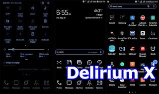 Download Tema Delirium X Repackage untuk Samsung Oreo dan Nougat terbaru