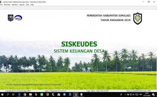 Pedoman Aplikasi Siskeudes Versi 2.0 versi Permendagri Nomor 20 Tahun 2018