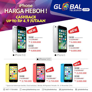 iPhone Harga Heboh di Global Teleshop