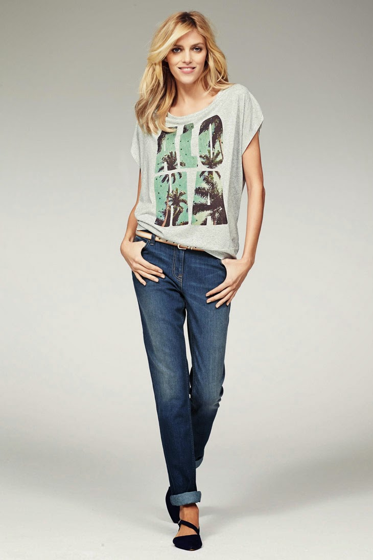 8946f8774a2 Anja Rubik poses for the Next and Next Jeans Lookbooks Spring Summer ...
