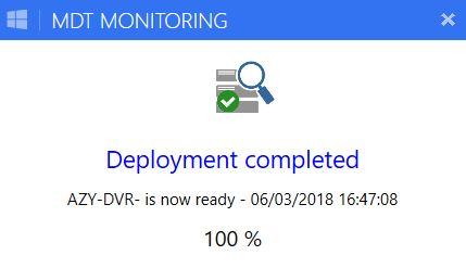 Powershell tool: MDT Light Monitor - New version - Syst & Deploy