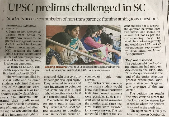 UPSC Prelims Challenged in SC