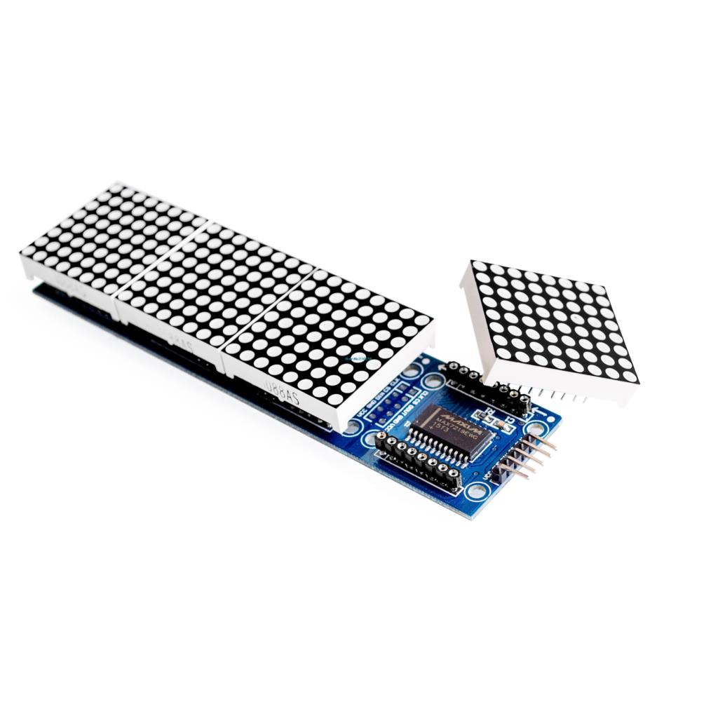 hight resolution of 4in1 dot matrix led module 32x8 pixel max7219 to arduino