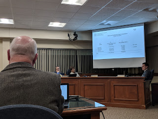 tax classification hearing underway at the Town Council meeting Nov 28