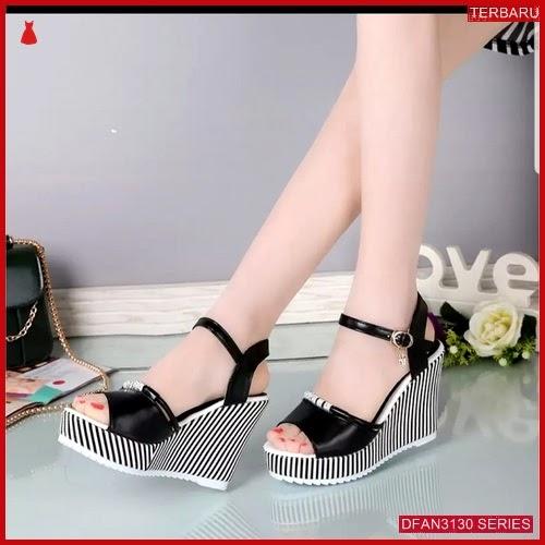 DFAN3130S125 Sepatu Hr06 Wedges 7cm Wanita Sol Tidak BMGShop