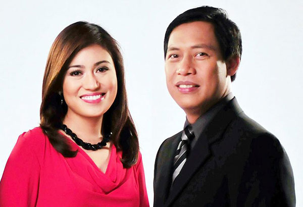 GMA News reporters Mariz Umali and Raffy Tima.