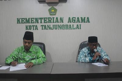 Kemenag Tanjungbalai Gelar Rapat Koordinasi dan Evaluasi