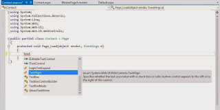 Intellisense in vs2012