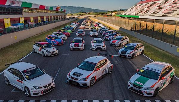 SEAT在歐洲地區舉辦專屬的SEAT Leon Eurocup競賽,賽事日前於義大利展開。(圖片來源:SEAT提供)