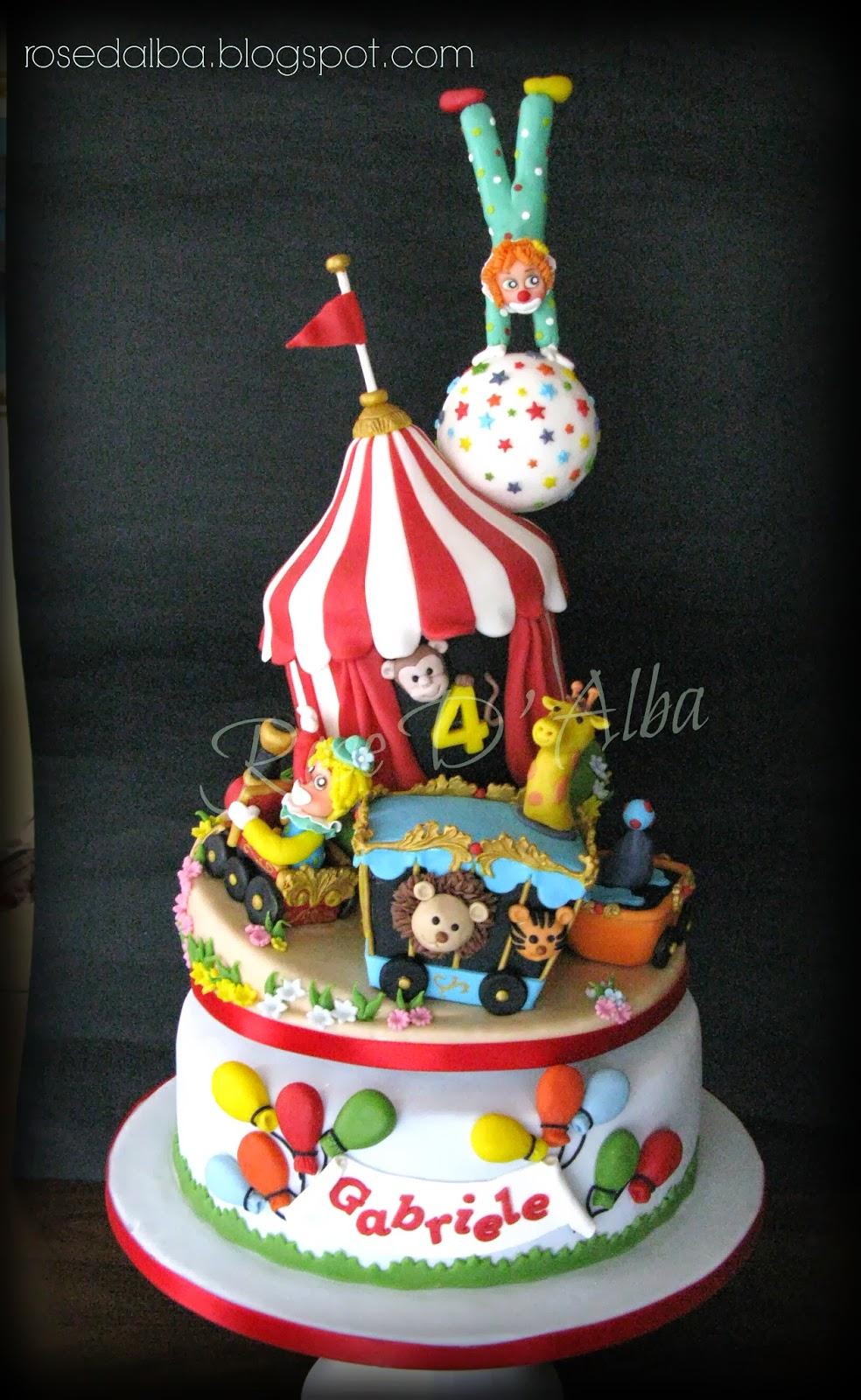 ROSE D ALBA cake designer Circus cake una torta a tema