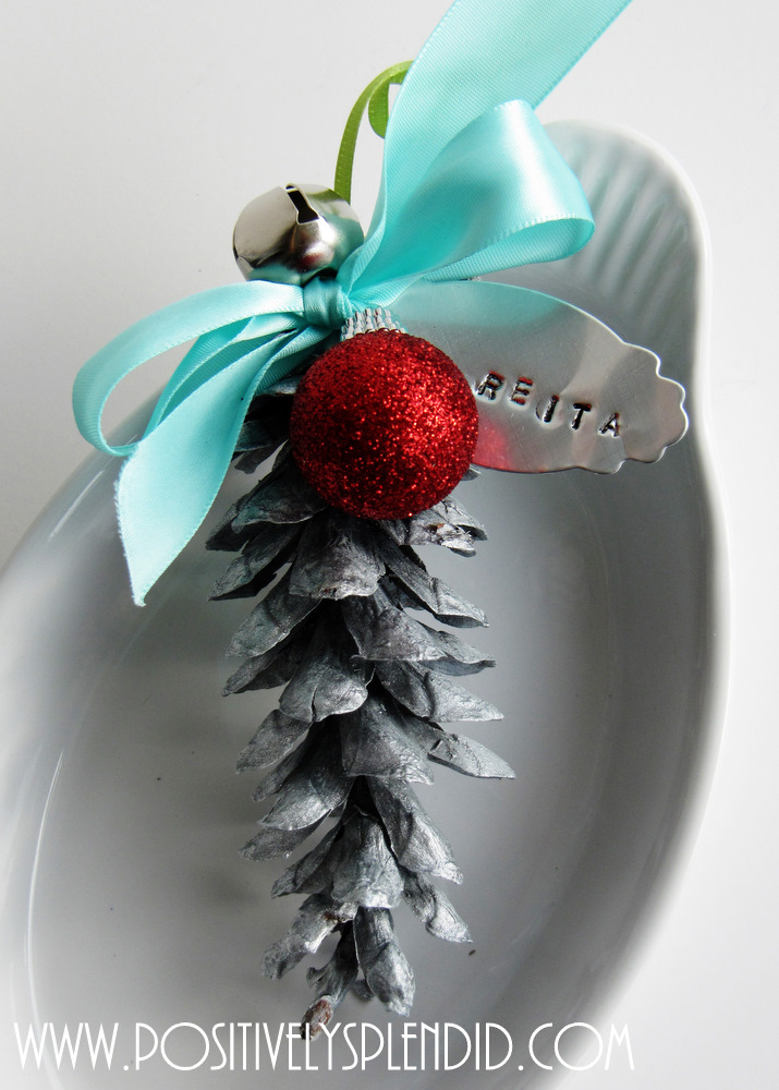 pine cone place card ornaments positively splendid. Black Bedroom Furniture Sets. Home Design Ideas