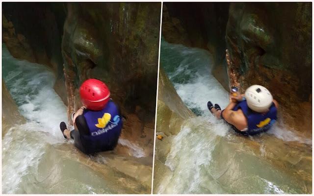 toboganes en los Saltos de Damajagua