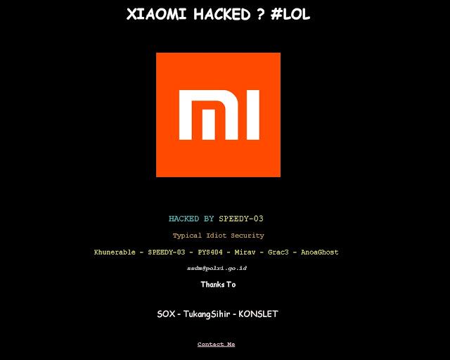 Typical Kembali Beraksi Situs Xiaomi Tajikistan Diretas
