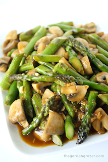 mushroom and asparagus stir fry vegetarian asparagus dish