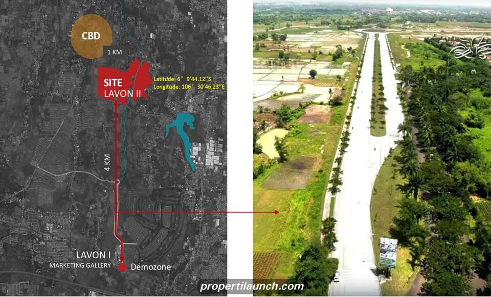 Peta Lokasi Lavon2 Tangerang