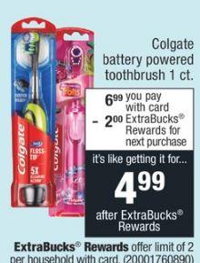 Colgate Battery Powered Toothbrush