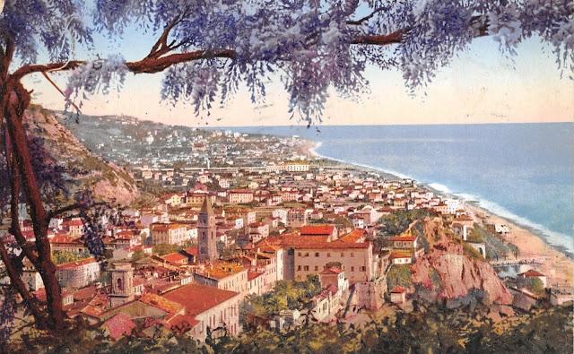 Ventimiglia vista da Via del Forte