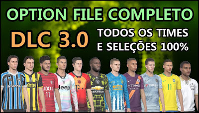 PES 2019 PS4 Option File PESVicioBR DLC 3.0 Season 2018/2019