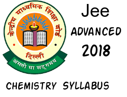 JEE Advanced 2018 Chemistry syllabus