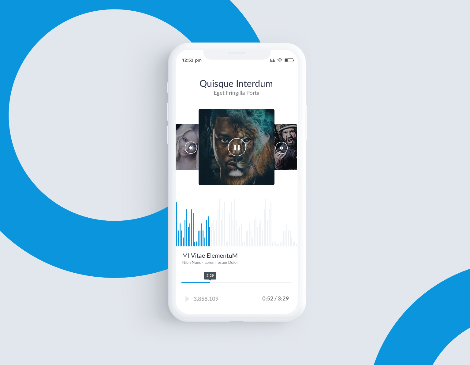 Music App UI Design For Android And iOS Beautiful Concept Design