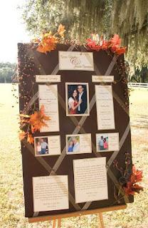 tableau de marriage classico con foglie secche e bacche