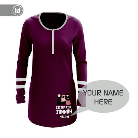 Sale!!!! Preorder Tshirt Muslimah! Free Cetak Nama Sendiri!