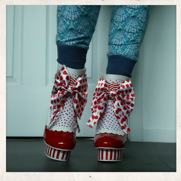 wearing irregular choice rosie with love ankle boot front