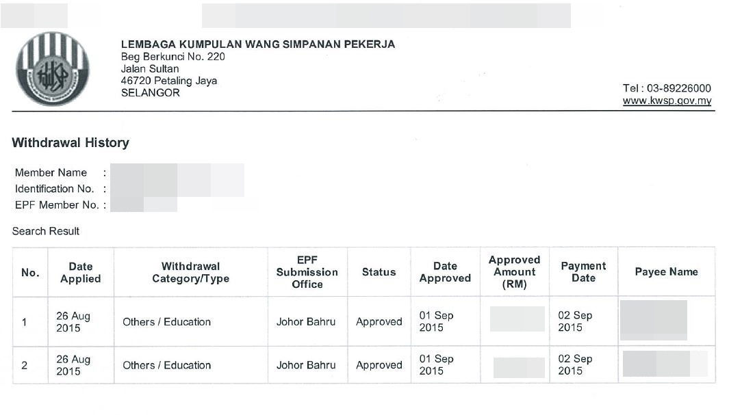 How To Apply Kwsp Education Withdrawal Utm Mba Study Diary