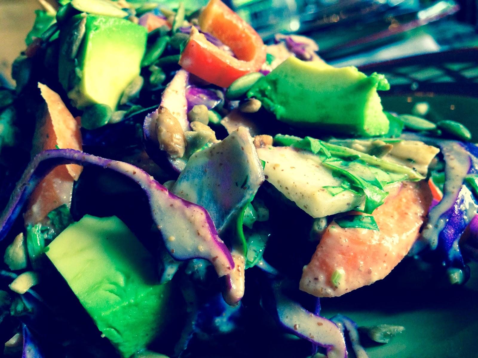 Kitchen Sink Salad by BeautyBeyondBones #glutenfree #grainfree #vegan #paleo #vegetarian #food #dinner #edrecovery