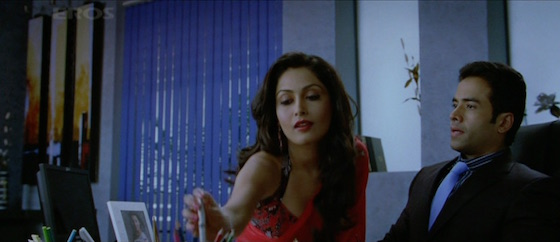 Charu offering Sahil a pen