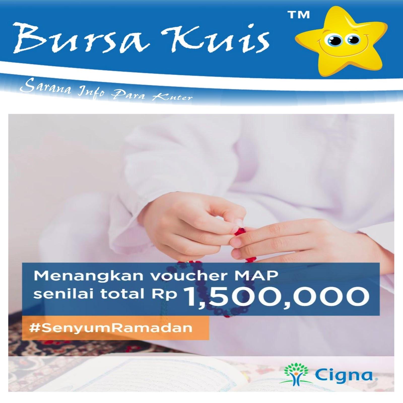 Voucher Map Senilai 1 Juta Daftar Harga Terkini Termurah Dan 500k Bahana Jaya Kuis Senyum Ramadhan Cigna Berhadiah Belanja Total 15 Rupiah