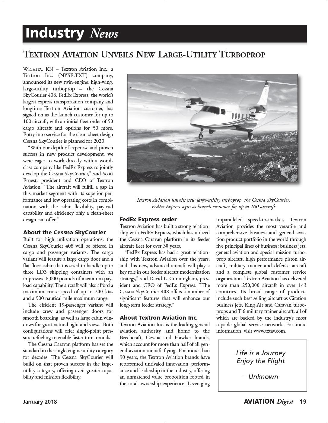 Aviation Digest: 2017